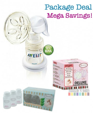 Package Deal - Philips AVENT BPA Free ISIS Manual Breast Pump