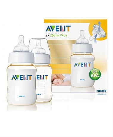 Philips AVENT BPA-Free Extra Durable (PES) 9oz/260ml Bottles (twin pack)