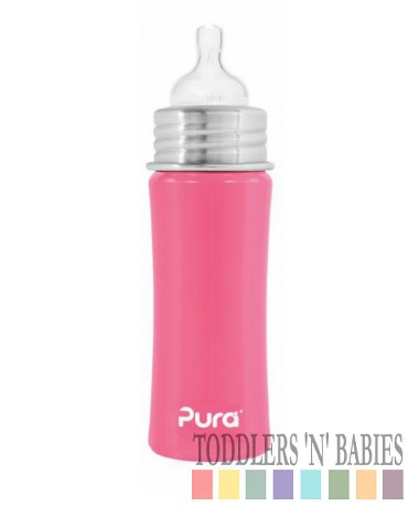Pura Kiki 11oz Infant Bottle Pretty Pink