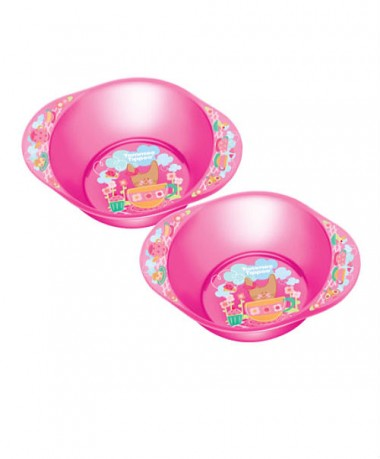 Tommee Tippee Explora Decorated Bowls (Pack of 2) Pink